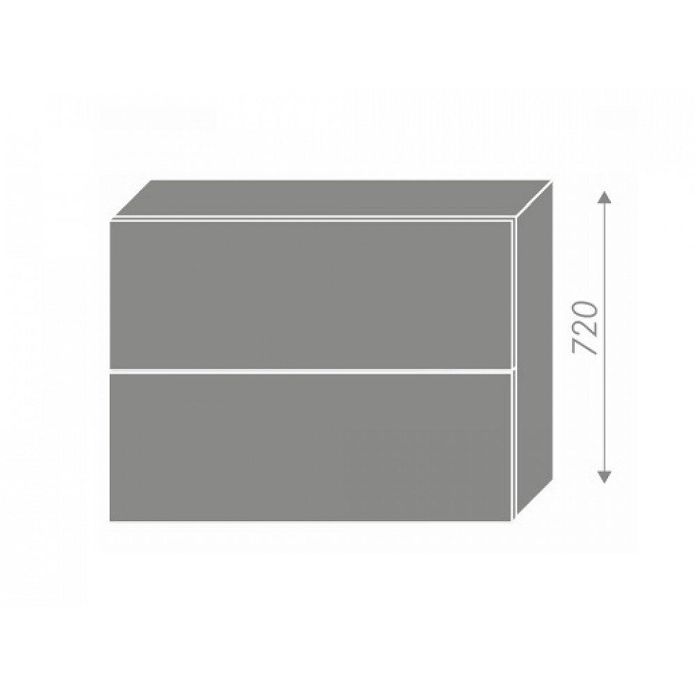 TITANIUM, horní skříňka W8B 90 AV, korpus: lava, barva: fino černé