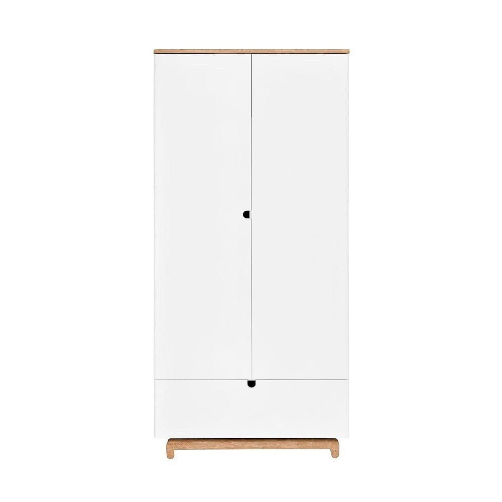 Bílá dvoudveřová šatní skříň BELLAMY Nomi