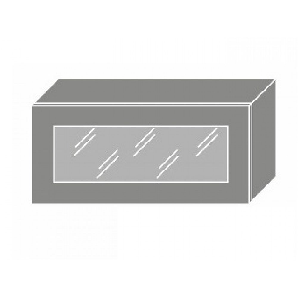 QUANTUM, skříňka horní W4bs 80 WKF, white mat/grey