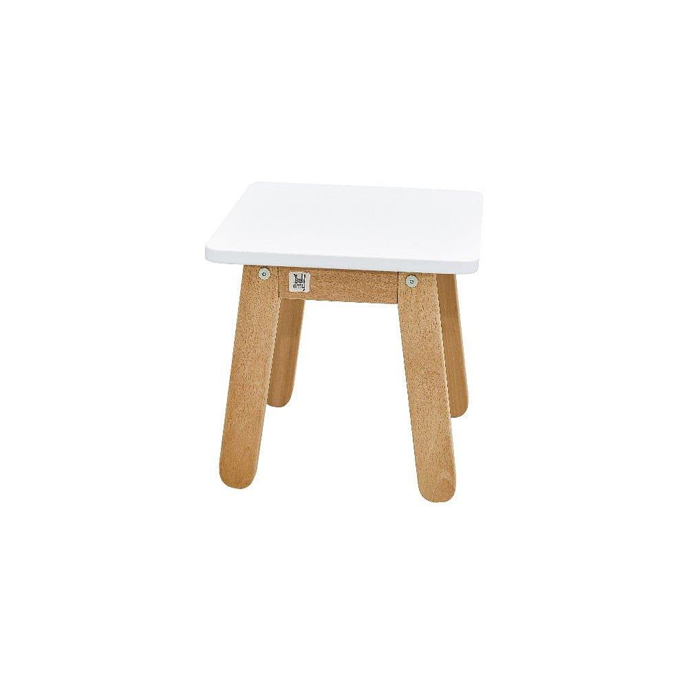 Sněhově bílá dětská stolička BELLAMY Woody