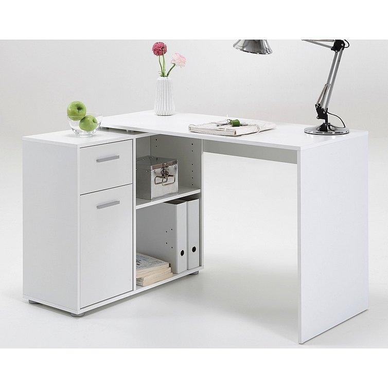 Psací stůl s regálem Albrecht, bílý