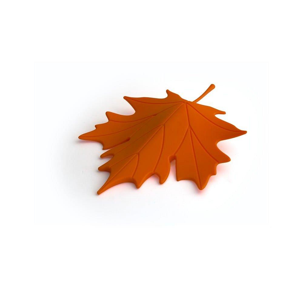 Oranžový dveřní klín ve tvaru listu Qualy&CO Autumn