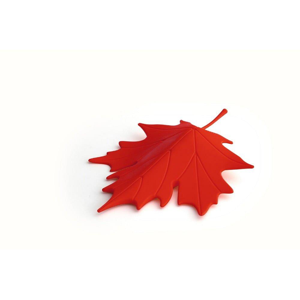 Červený dveřní klín ve tvaru listu Qualy&CO Autumn