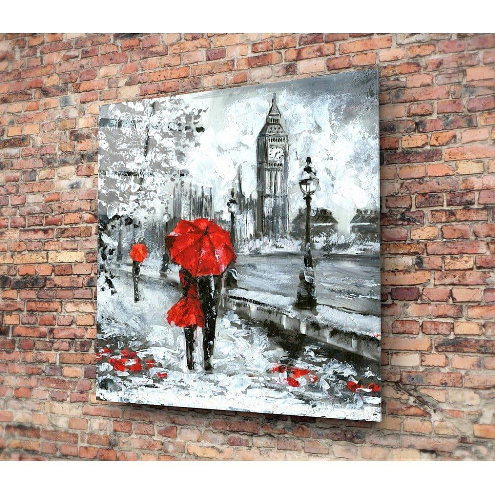 Skleněný obraz Insigne Romance On Streets, 30x30cm