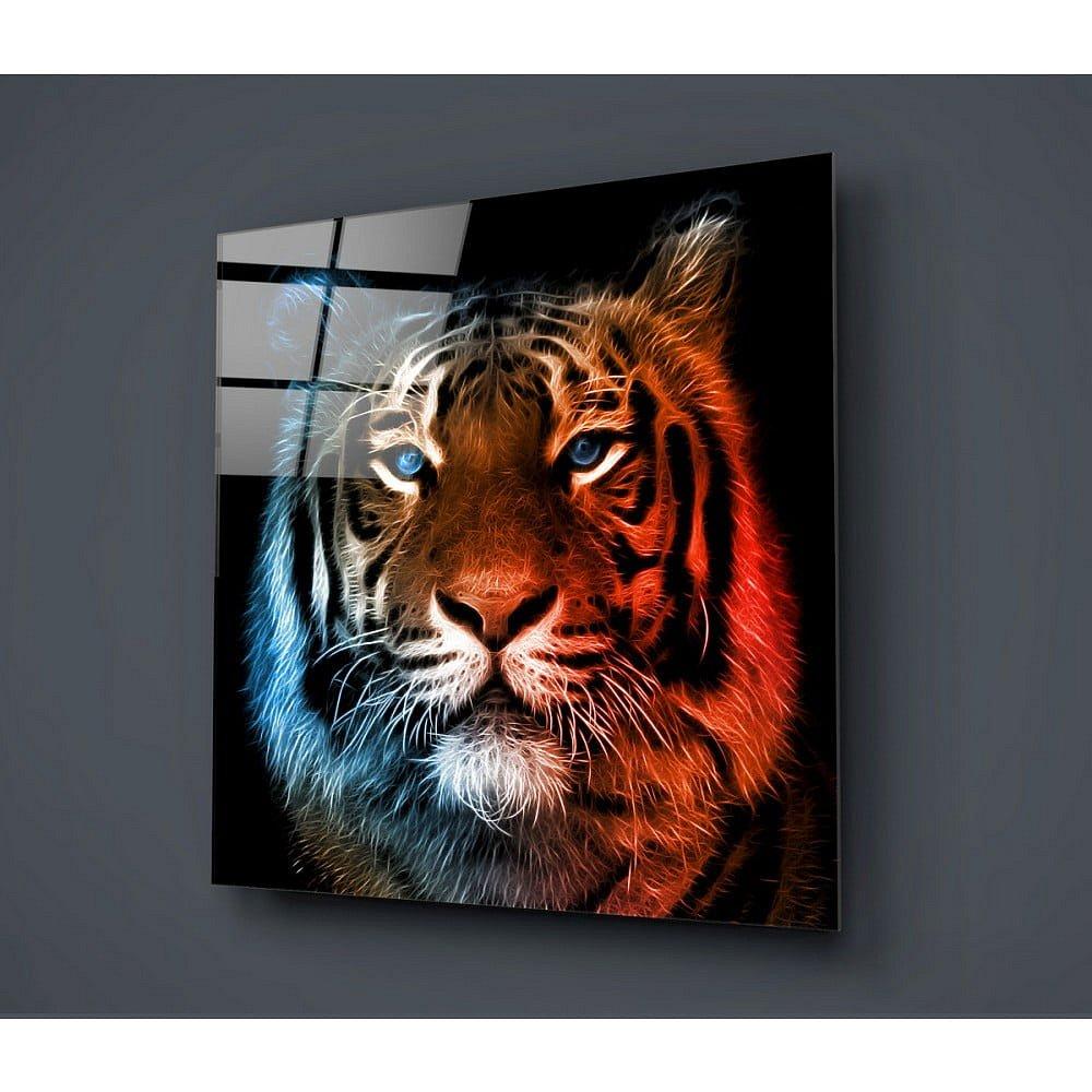 Skleněný obraz Insigne Lion Colorful, 40x40cm