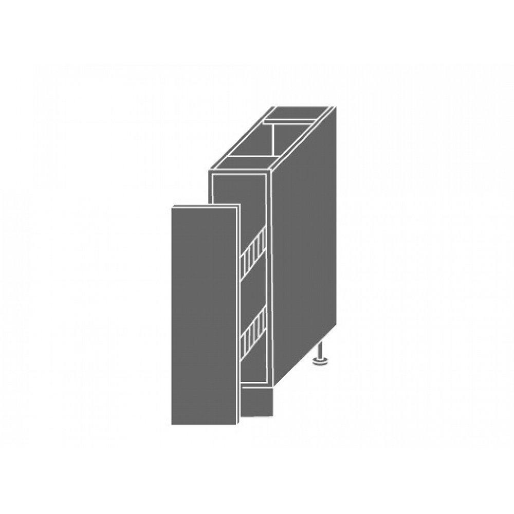 QUANTUM, skříňka dolní D/15 + cargo, levá, white mat/grey