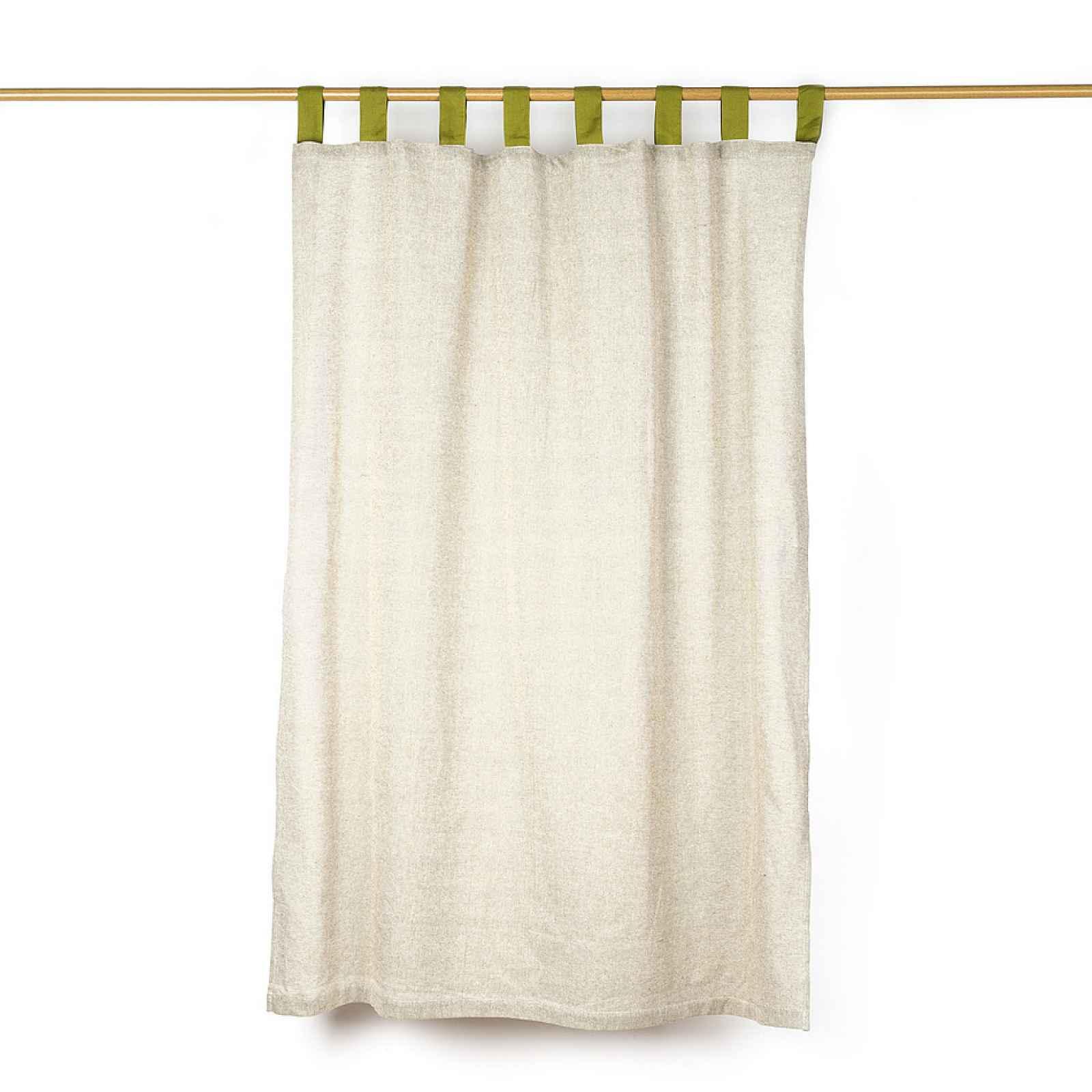 Jahu Závěs režný zelená, 140 x 160 cm