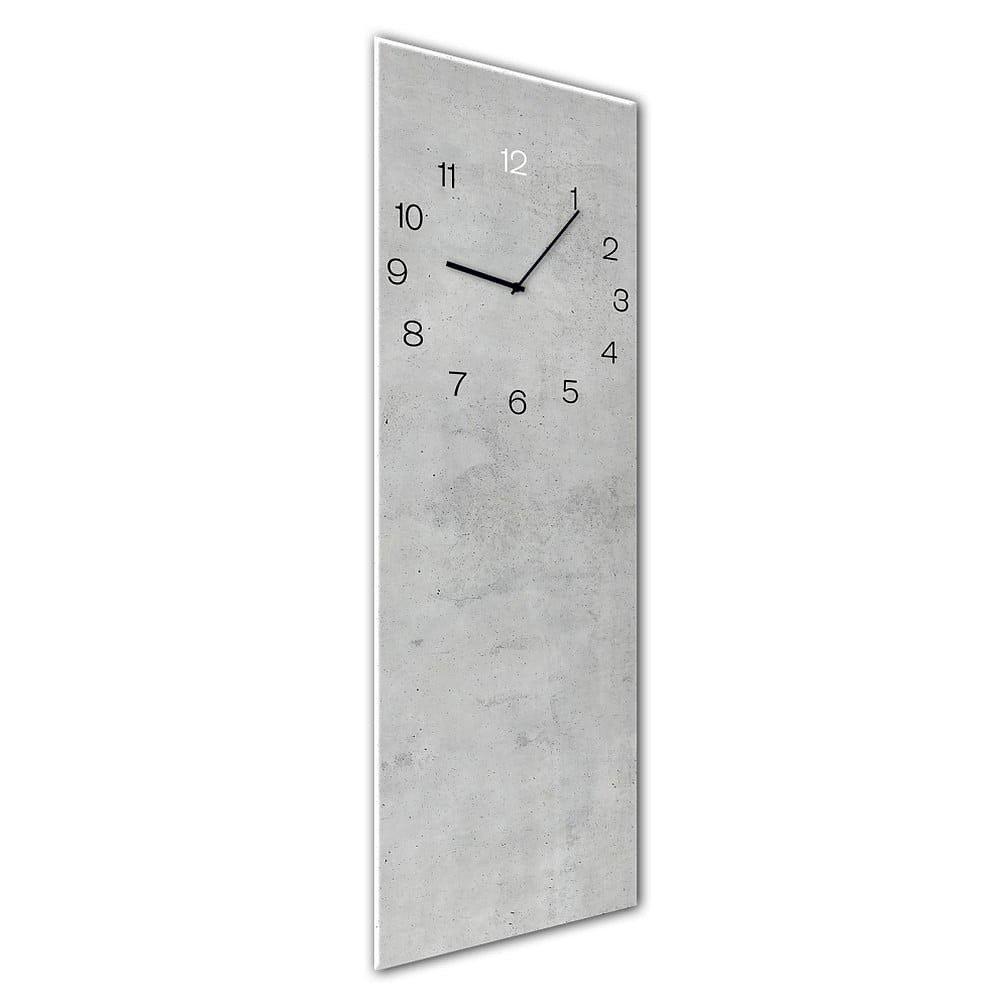 Nástěnné hodiny Styler Glassclock Concrete, 20 x 60 cm