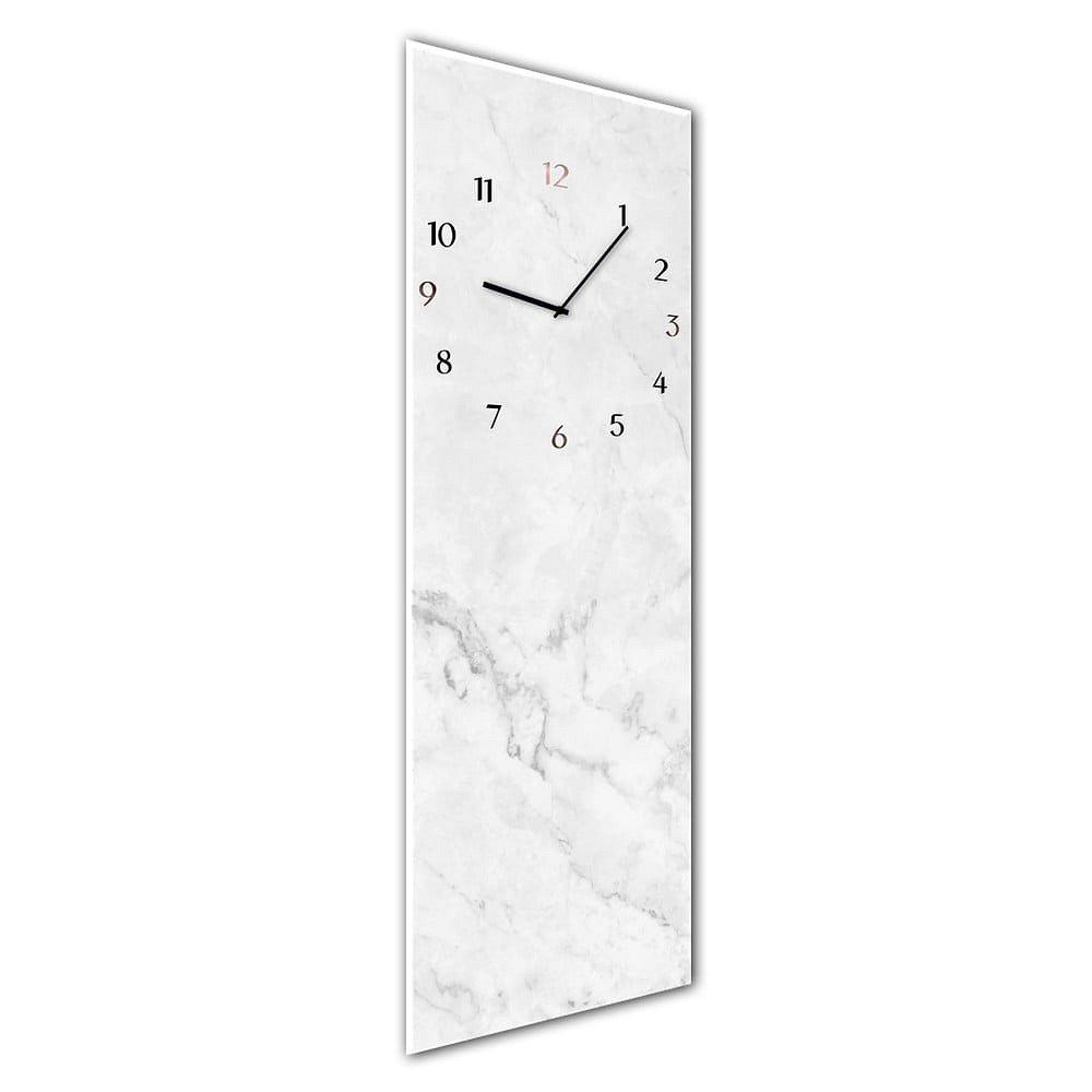 Nástěnné hodiny Styler Glassclock Marble, 20 x 60 cm