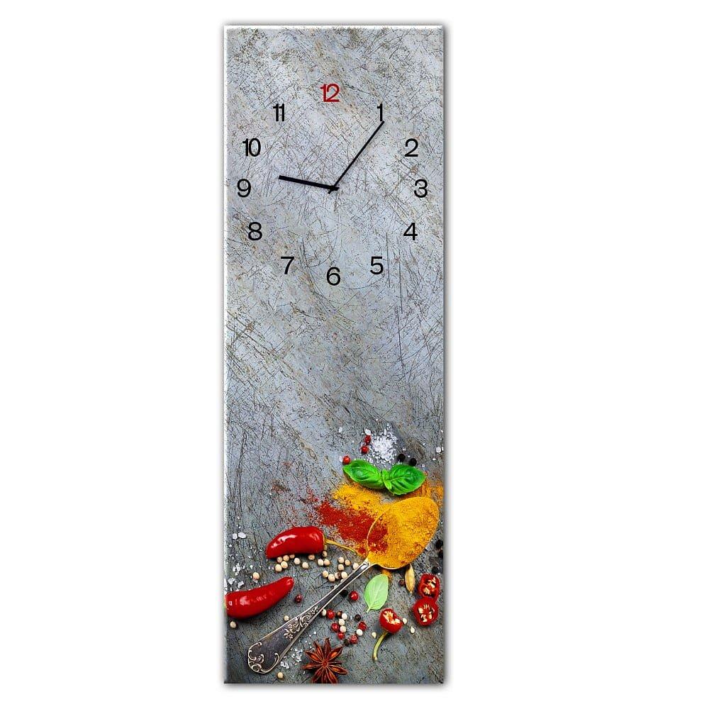 Nástěnné hodiny Styler Glassclock Silver Spoon, 20 x 60 cm
