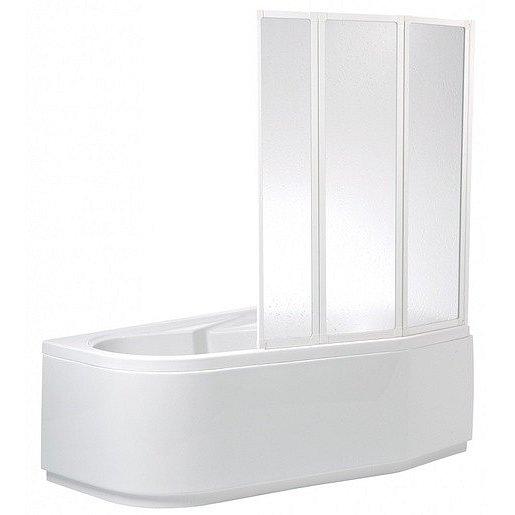 Vanová zástěna Teiko VZKR 135x110 cm bílá VZV40015100