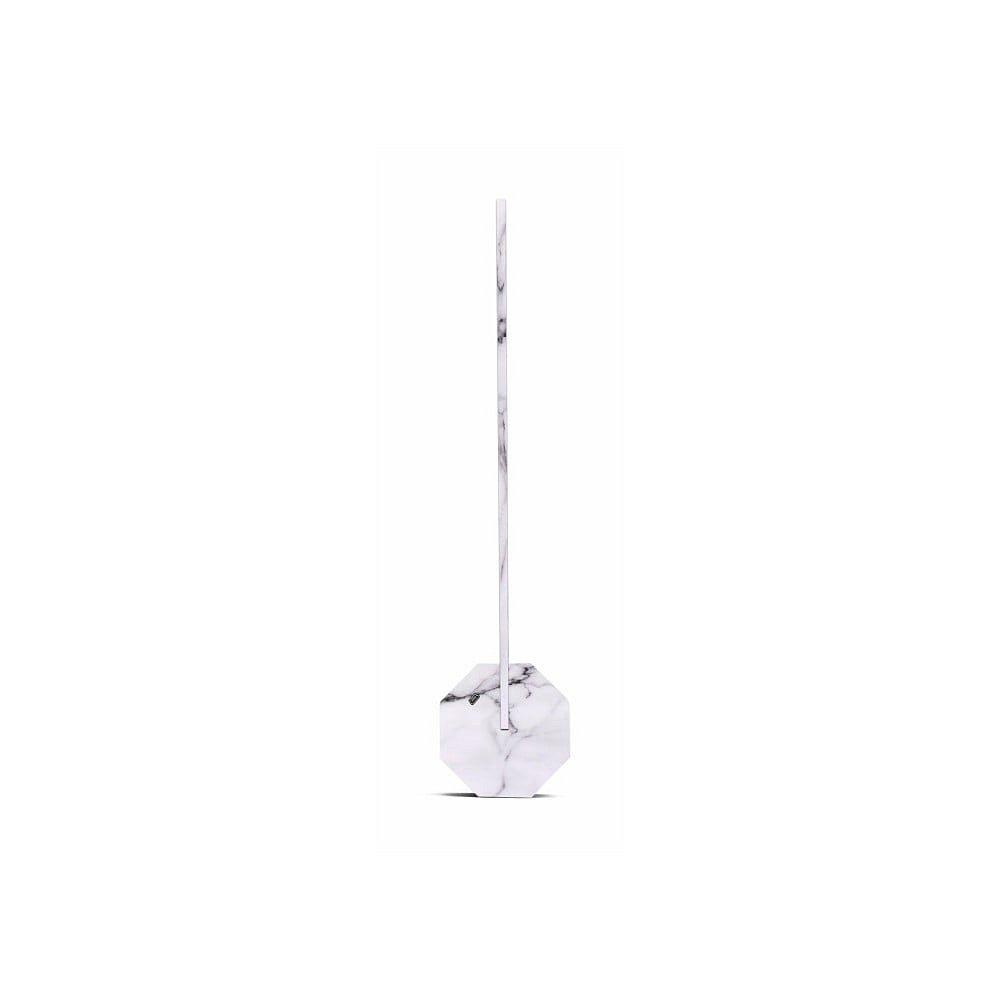 Bílá mramorová stolní lampa Gingko Octagon