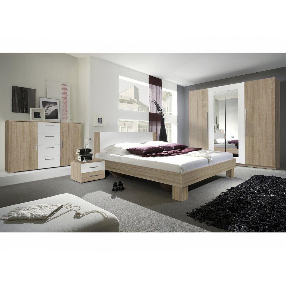 VERA ložnice s postelí 160x200, dub sonoma/bílá