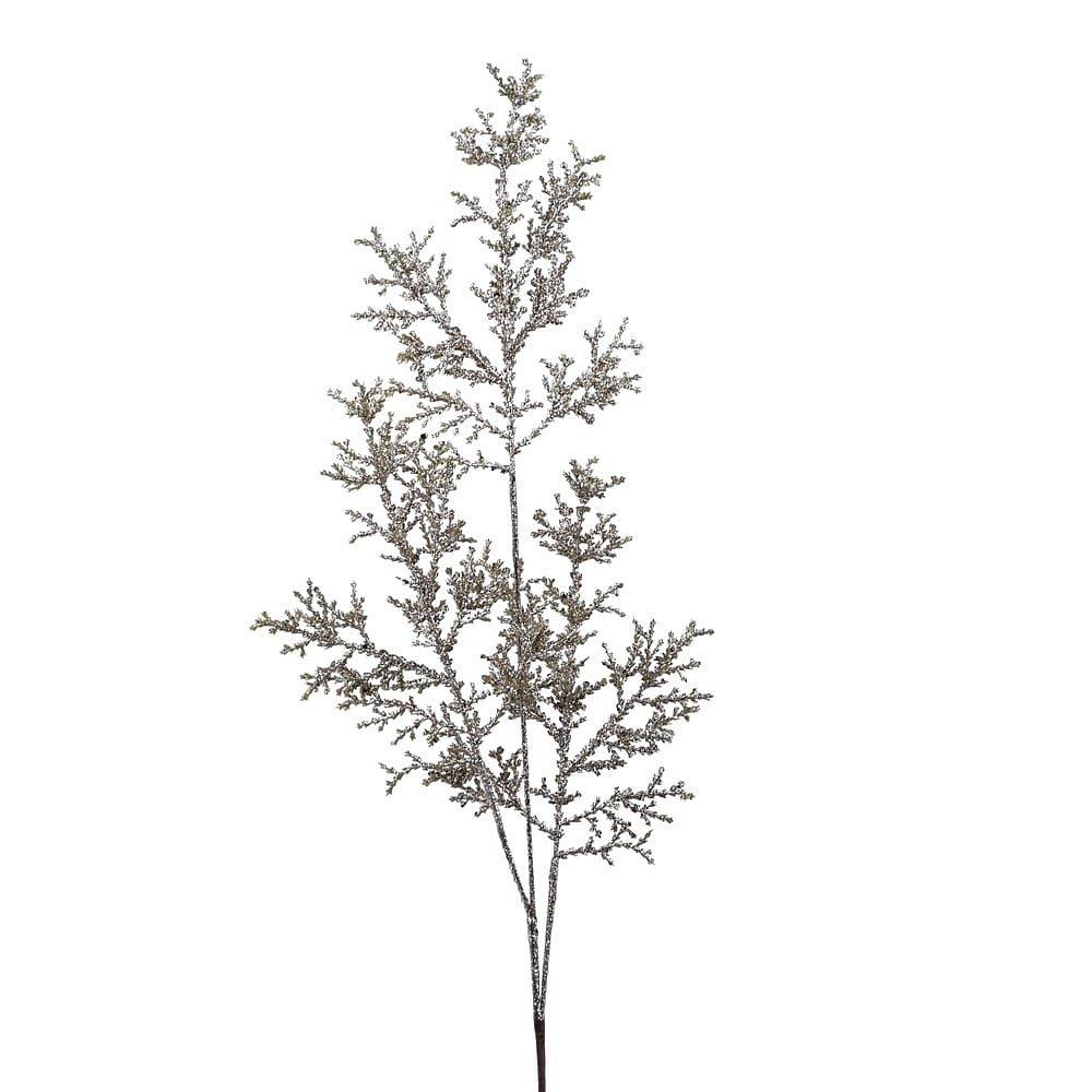 Bílá zdobená větev Ego Dekor,výška83cm