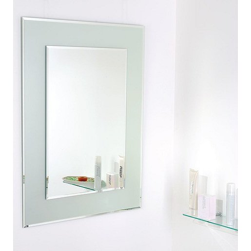 Zrcadlo s fazetou Amirro Snowqueen 60x80 cm šedá 711-447