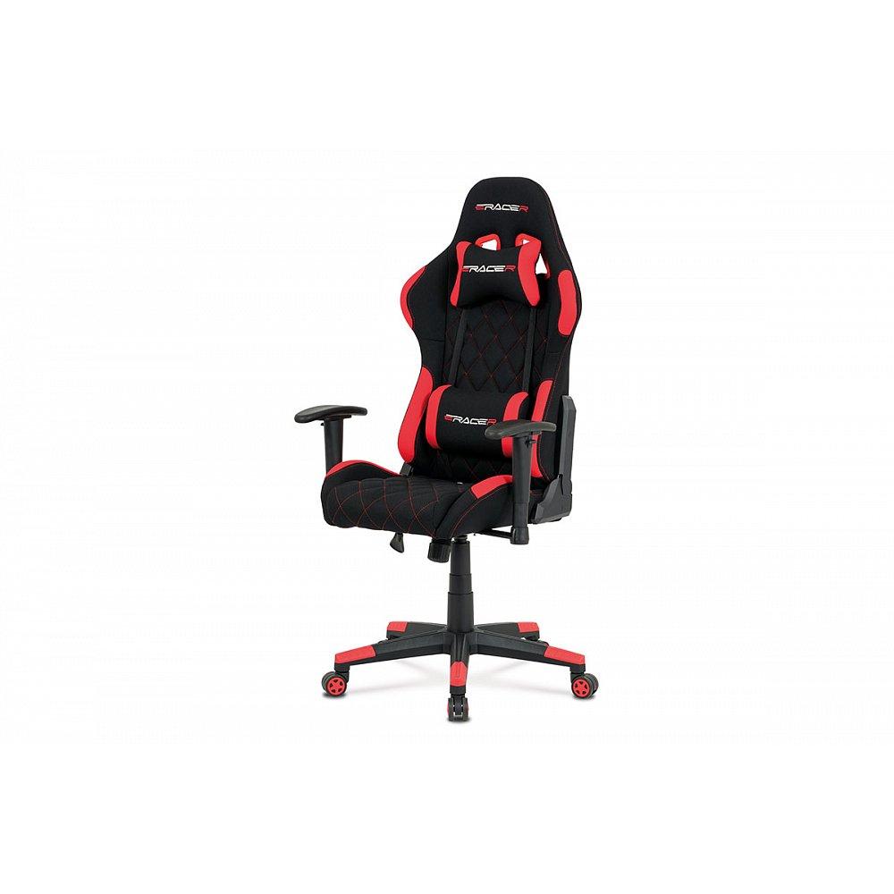 Kancelářská židle KA-V606 RED, červená/černá