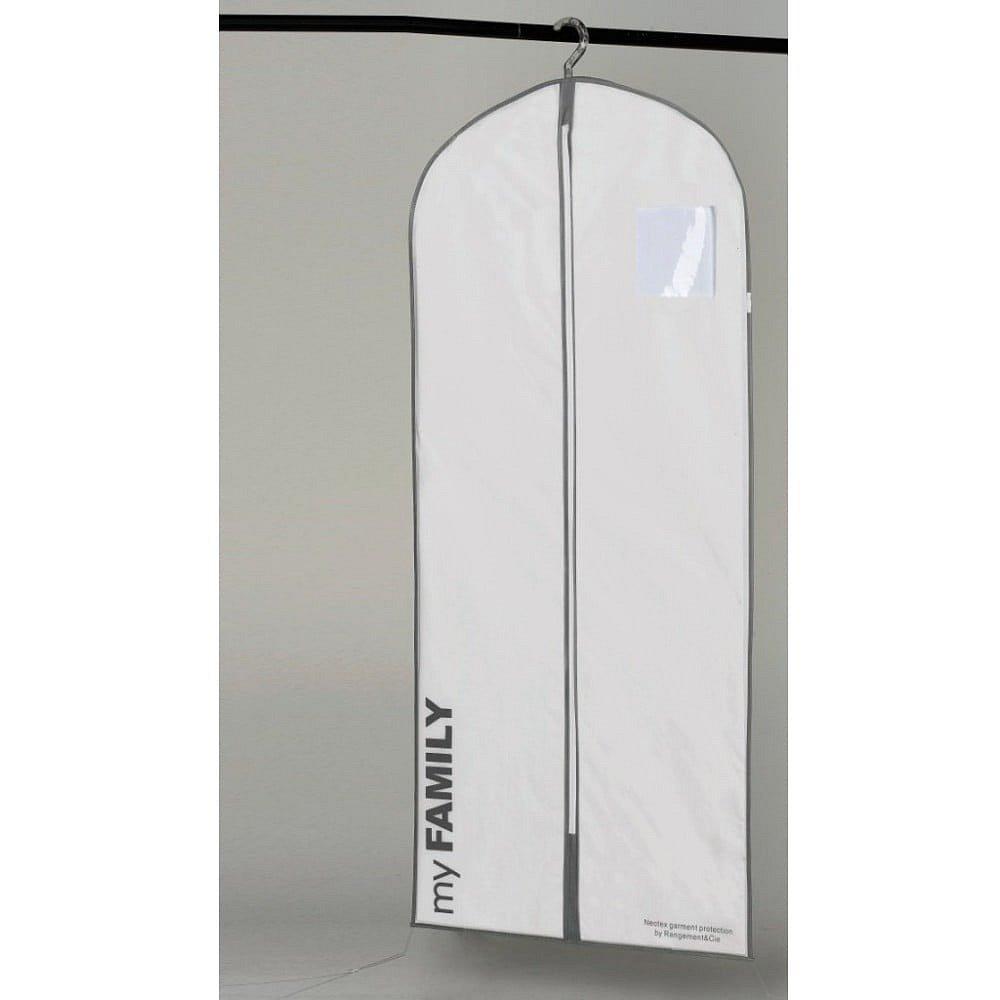 Bílý závěsný obal na šaty Compactor Dress, délka127cm