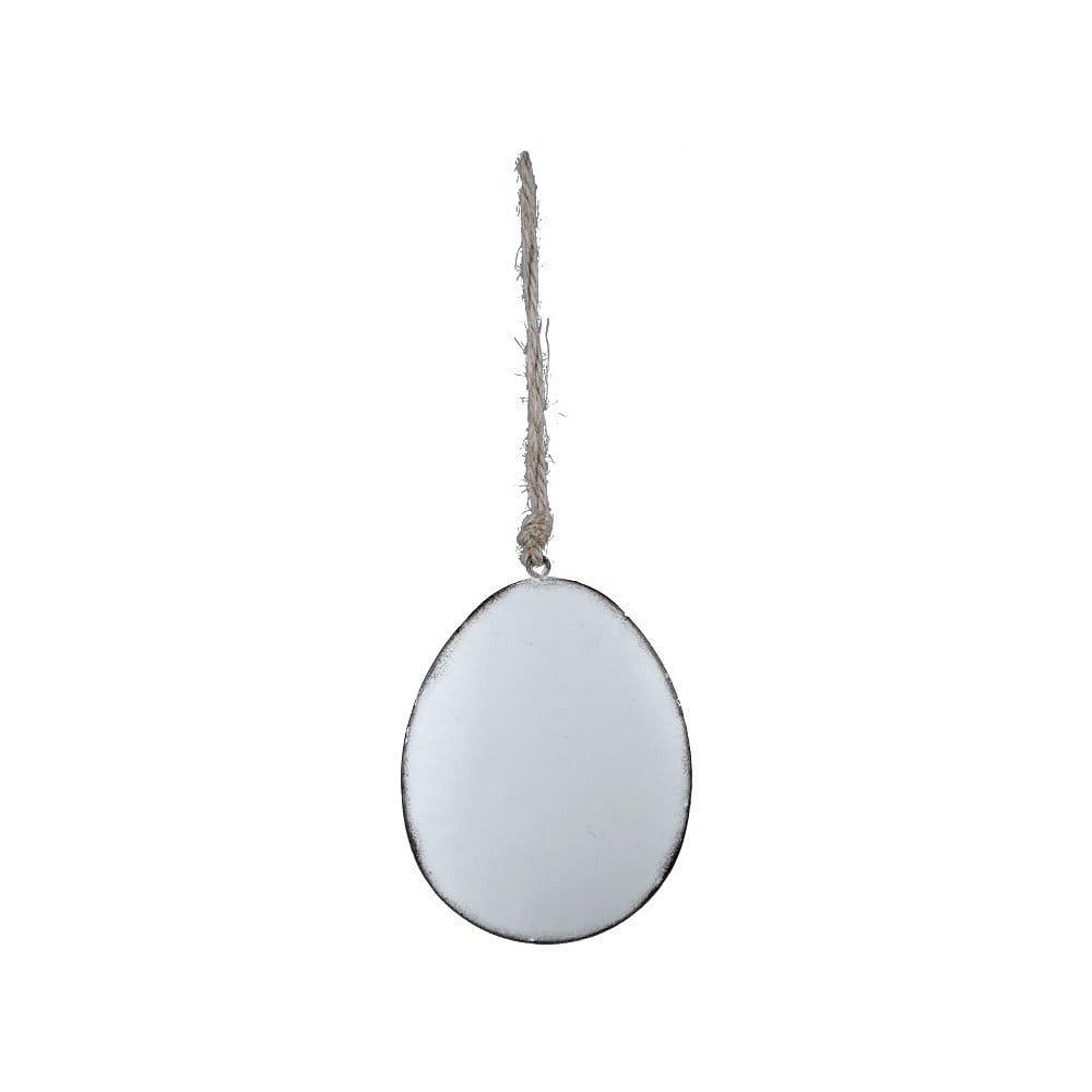 Bílá závěsná ozdoba ve tvaru vajíčka Ego Dekor