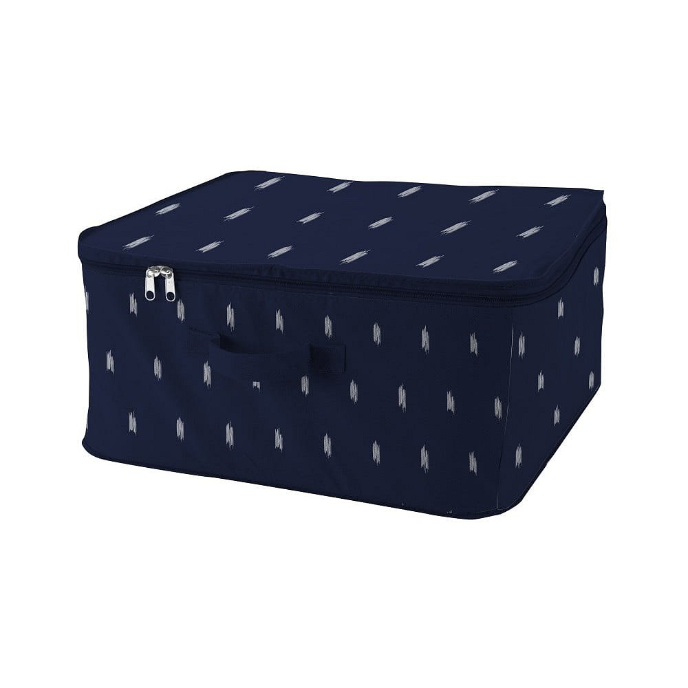 Tmavě modrý úložný box na zip Compactor Kasuri Range