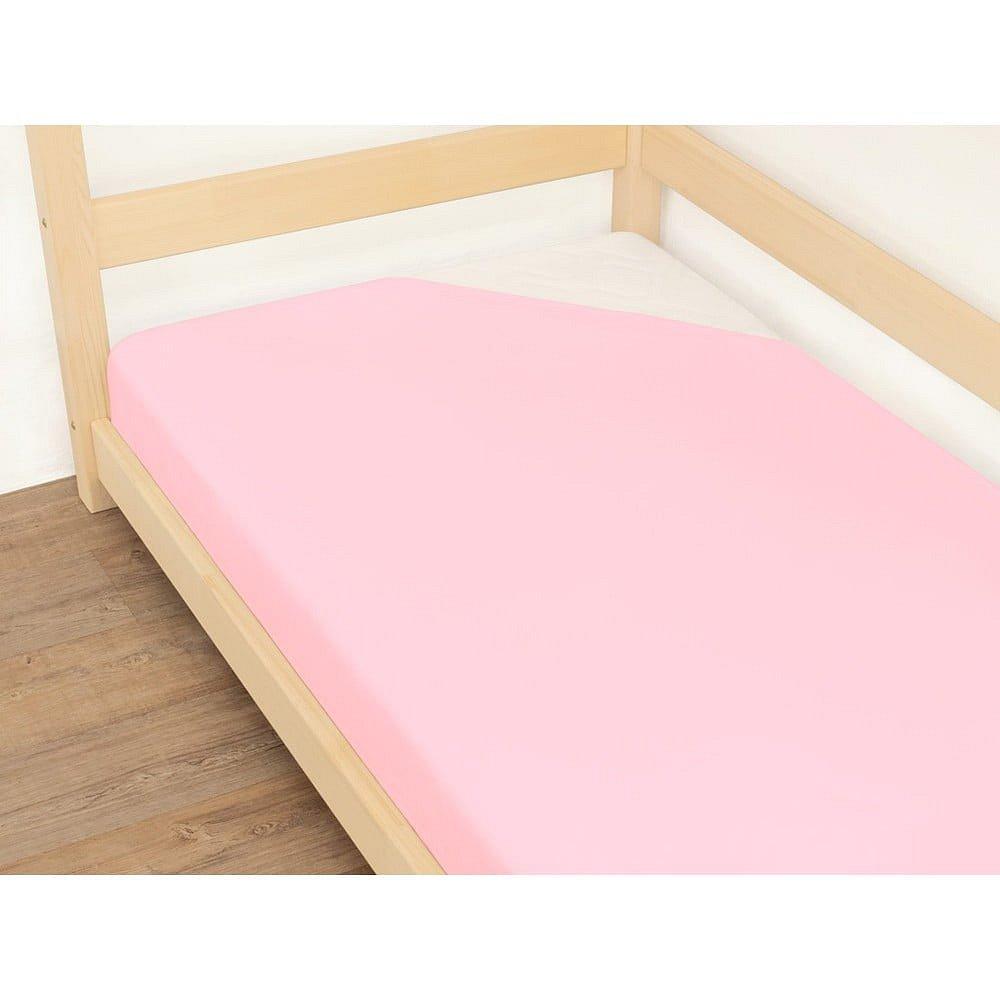 Růžové prostěradlo z bavlny Benlemi Jersey,90x200cm