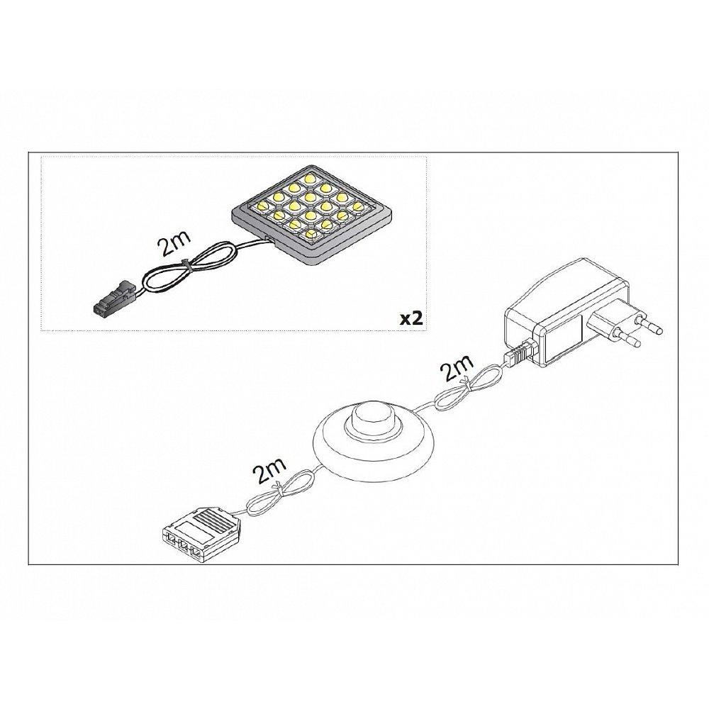 LED osvětlení ALABAMA UNTERBAU II 2x, bílé