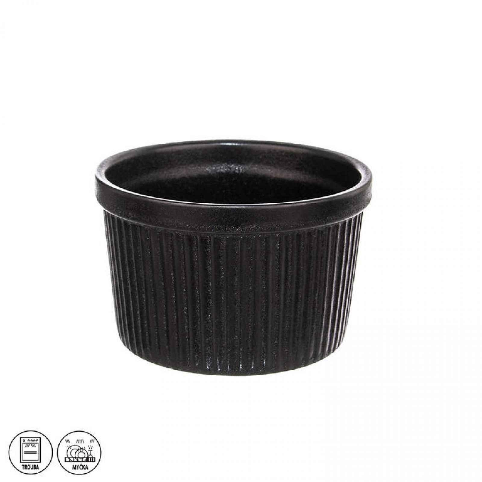 Zapékací porcelánová miska BLACK 10,5 x 6,5 cm