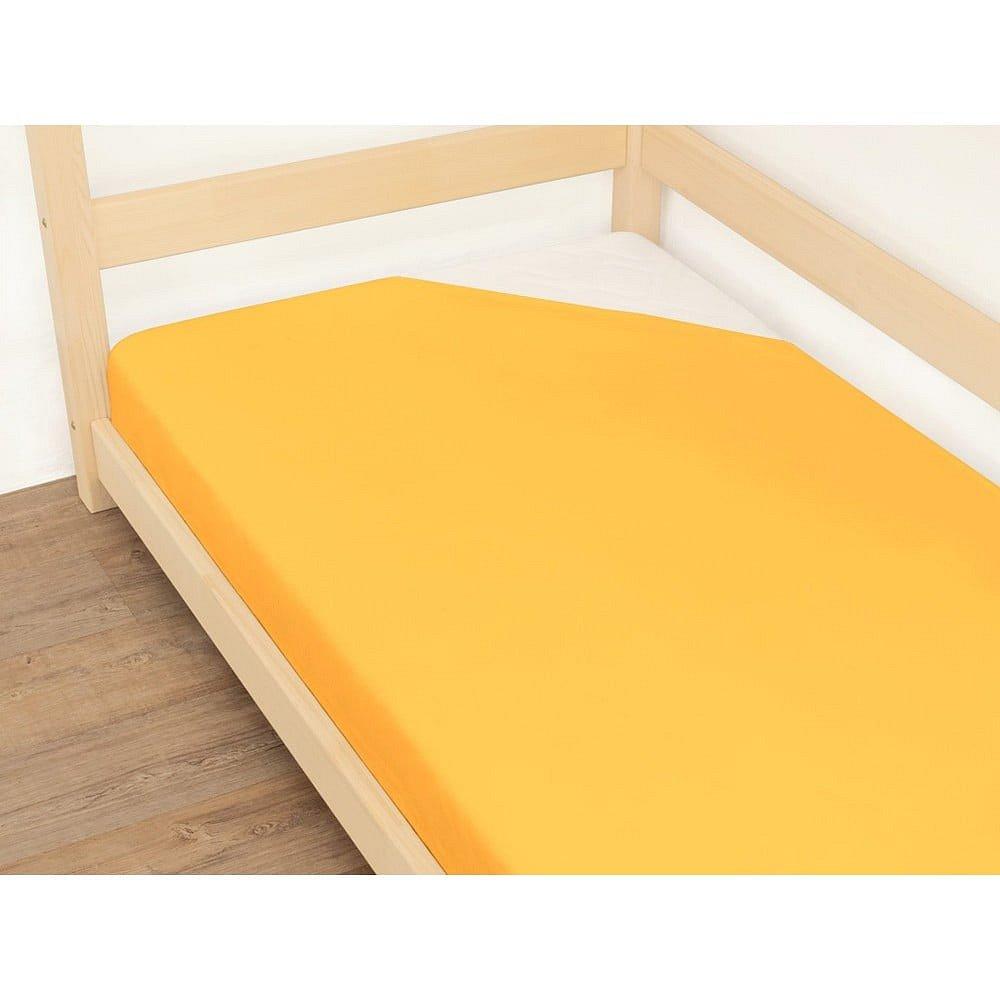 Oranžové prostěradlo z bavlny Benlemi Jersey,90x180cm
