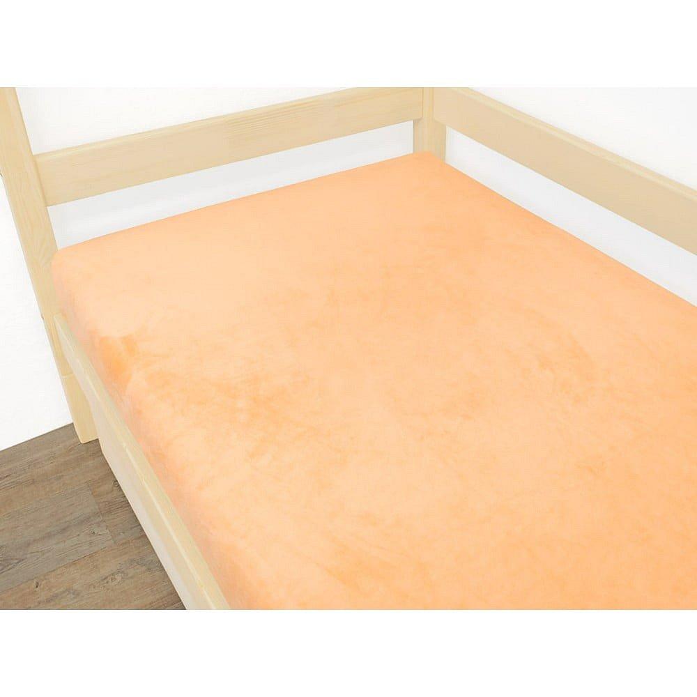 Oranžové prostěradlo z mikroplyše,70x160cm