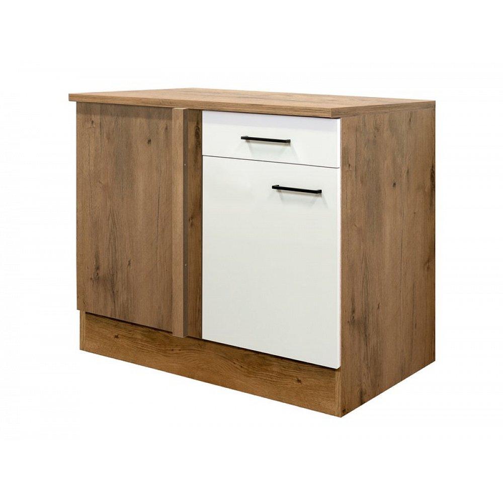 Dolní rohová kuchyňská skříňka Avila UEBE110, dub lancelot/krémová, šířka 110 cm
