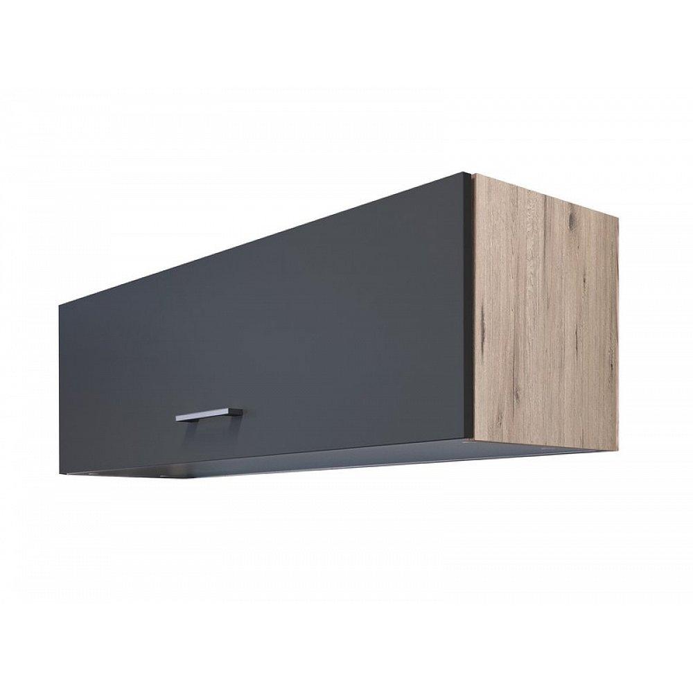 Horní kuchyňská skříňka Tiago KHW100, dub sonoma/šedá, šířka 100 cm