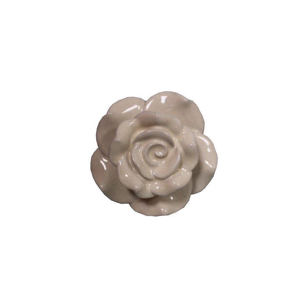 Béžová kameninová dekorativní úchytka Antic Line Belarosa