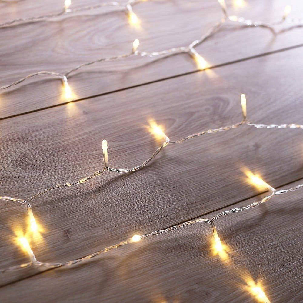 Prodloužení LED transparentního světelného řetězu DecoKing Christmas, 200 světýlek,délka1m