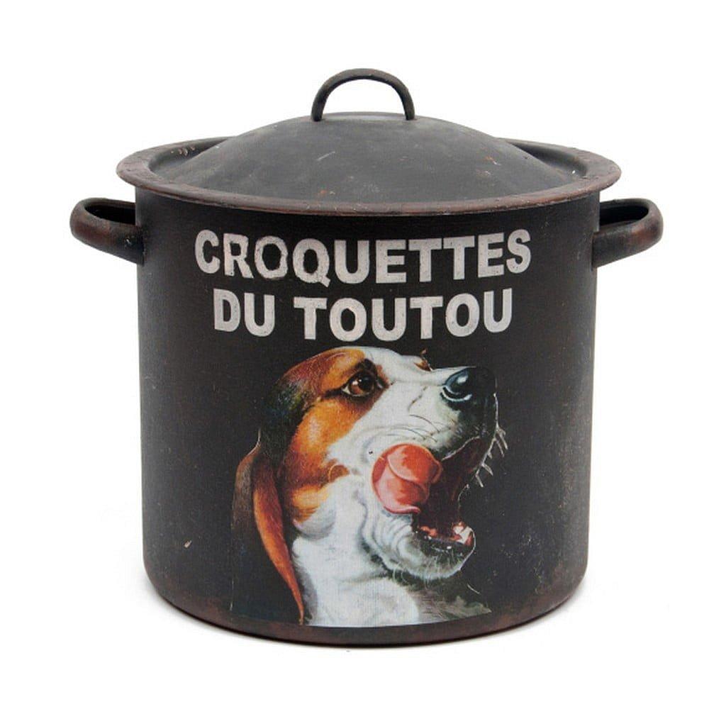 Železná dóza Antic Line Croquettes Du Toutou, ⌀ 23 cm