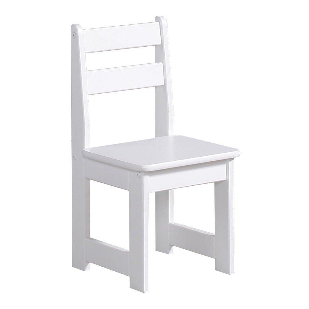 Bílá dětská židle z masivního borovicového dřeva Pinio Baby