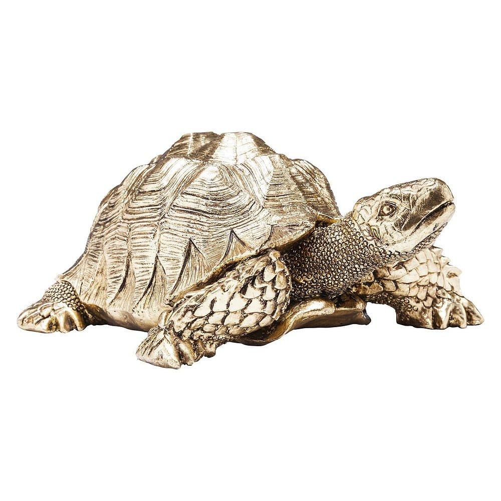 Dekorativní soška vezlaté barvě Kare Design Turtle