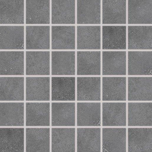 Mozaika Rako Betonico černá 30x30 cm mat DDM06792.1
