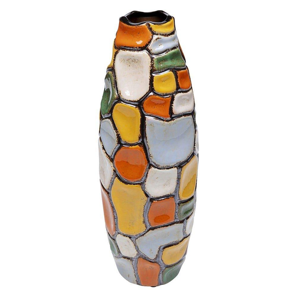 Barevná kameninová váza Kare Design Jolly Spots, výška 41cm