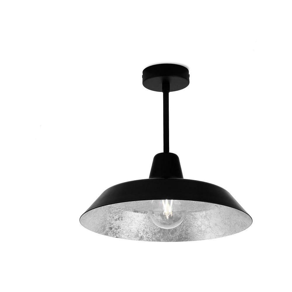 Stropní svítidlo v černé a stříbrné barvě Bulb Attack Cinco Basic