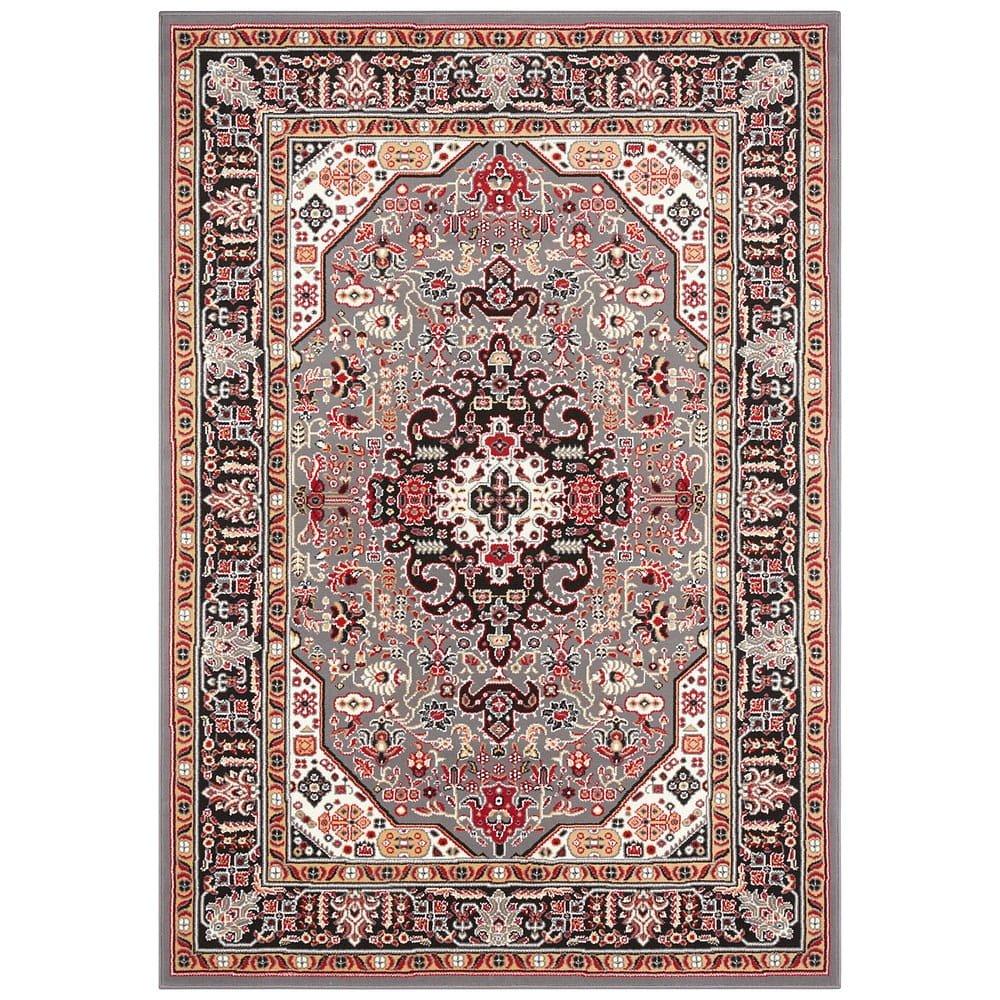 Šedo-hnědý koberec Nouristan Skazar Isfahan, 80 x 150 cm