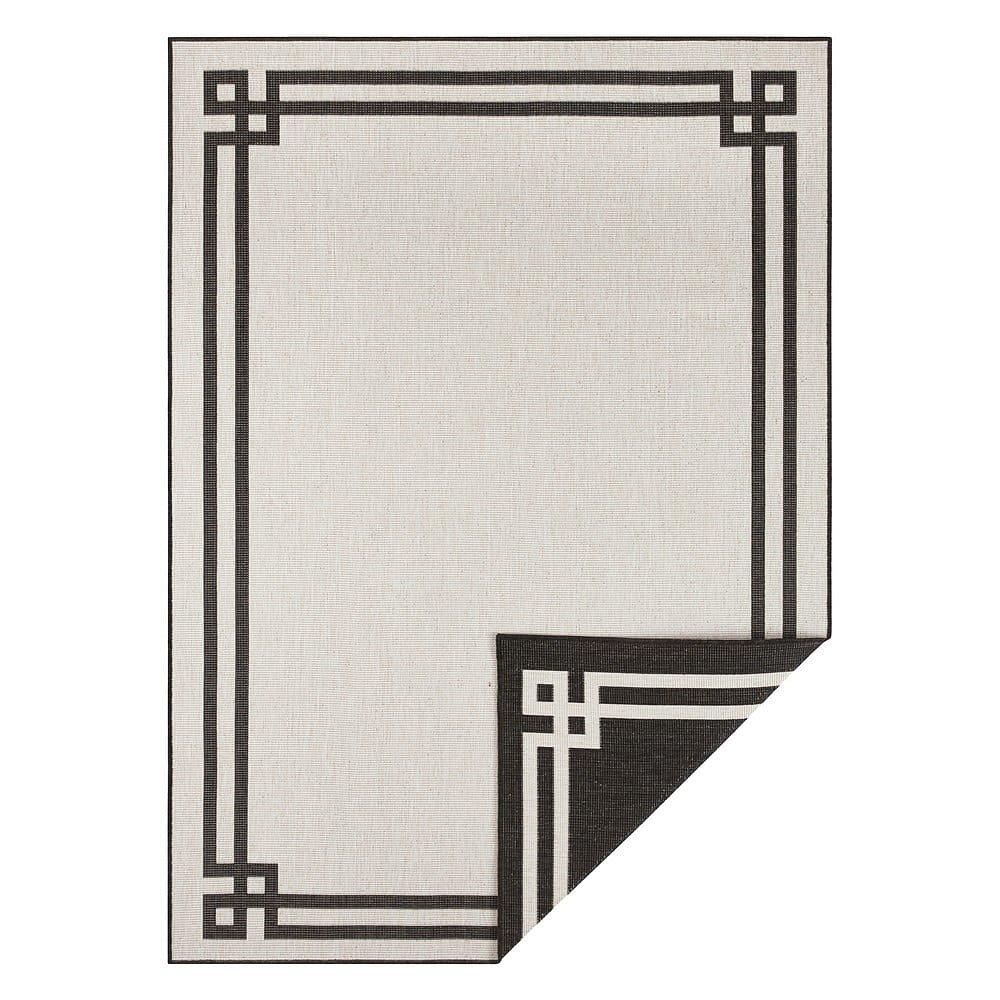 Černo-krémový venkovní koberec Bougari Manito, 120 x 170 cm