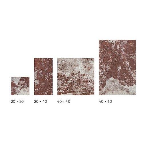 Dlažba Cir Molo Audace rosso d´amante 20x20,20x40,40x40,40x60 cm mat 10685471