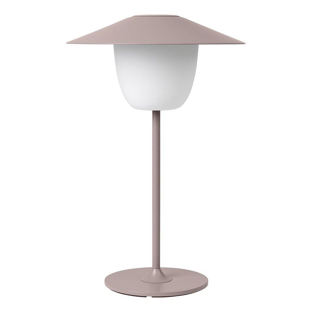 Světle růžová nízká led lampa Blomus Ani Lamp