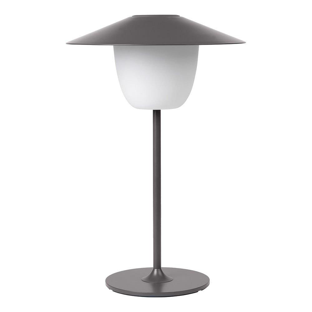 Šedá nízká led lampa Blomus Ani Lamp