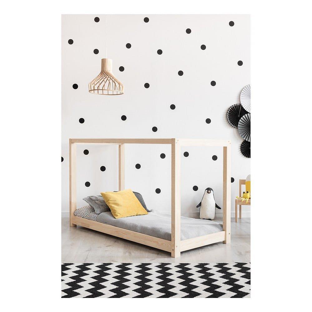 Domečková postel z borovicového dřeva Adeko Mila KM,60x120cm