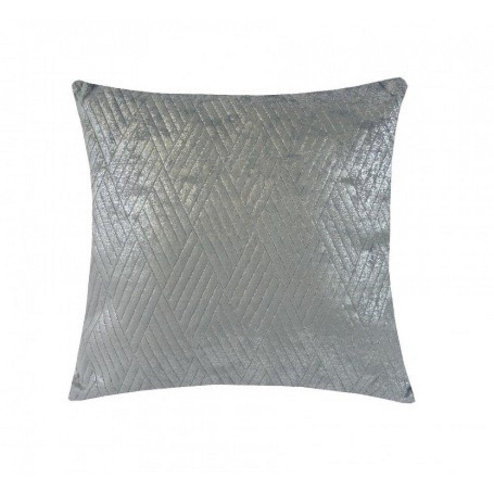 Polštář DP152 (45x45 cm, světle šedá, stříbrná)