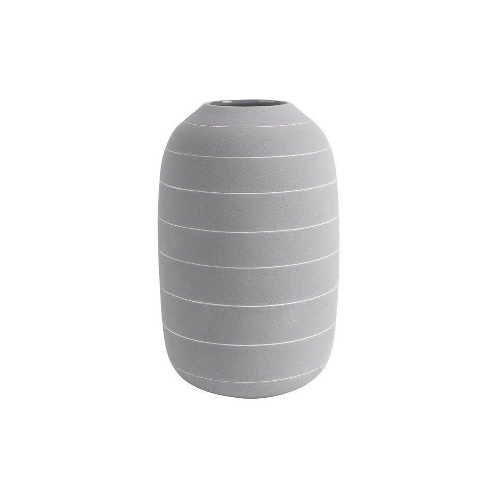 Světle šedá keramická váza PT LIVING Terra, ⌀16cm