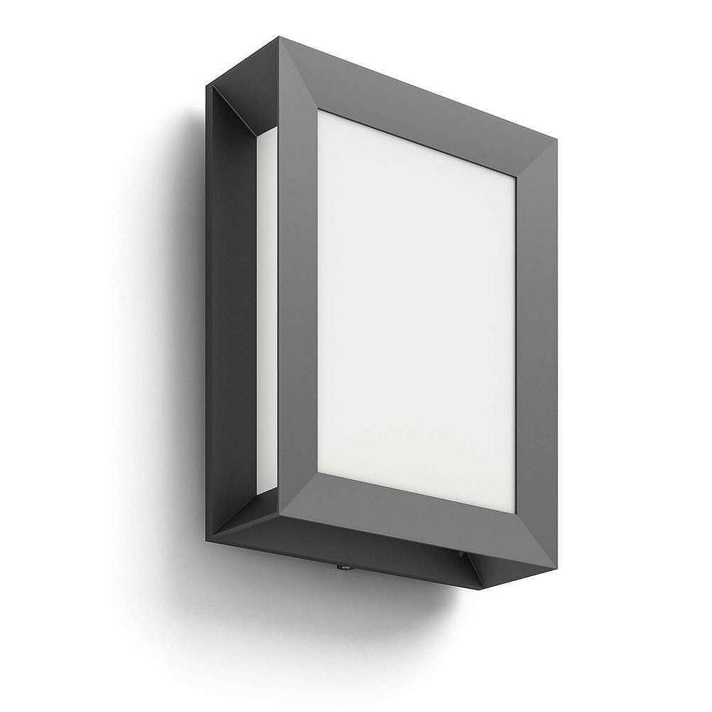 Svítidlo LED Philips Karp, 2700K, 6W, IP44 antracit