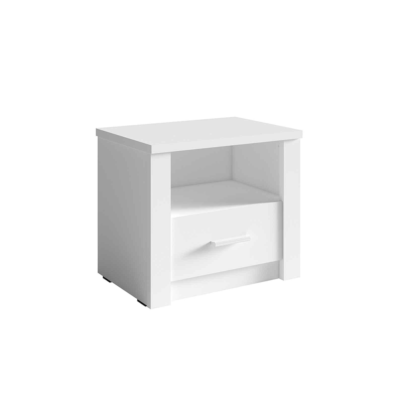 Noční stolek RAMIAK 2 ks bílá Tempo Kondela