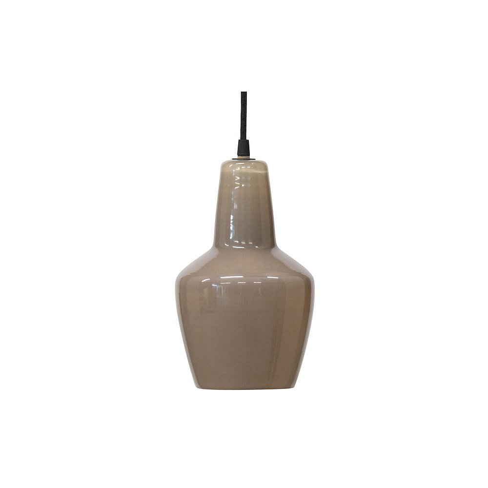 Šedé skleněné stropní svítidlo BePureHome Nougat, ø 22 cm