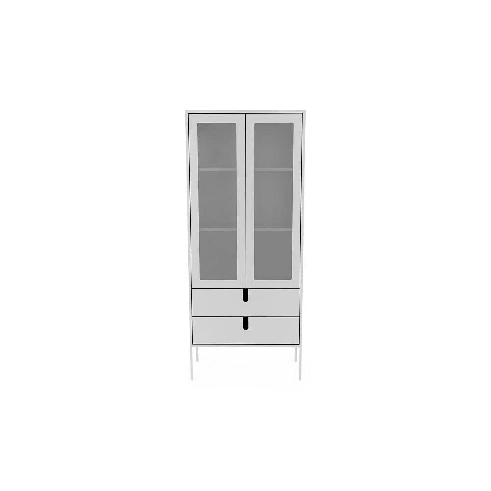 Bílá vitrína Tenzo Uno, šířka 76cm